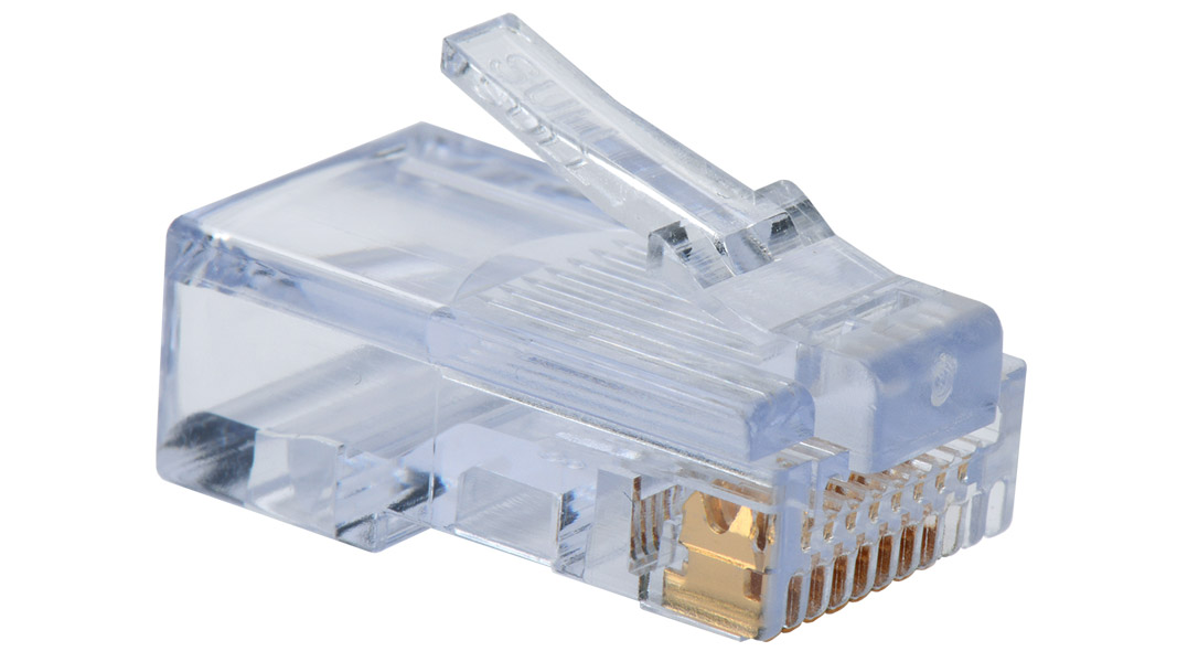 Category 5e EZ-RJ45 plugs in a 100-pack