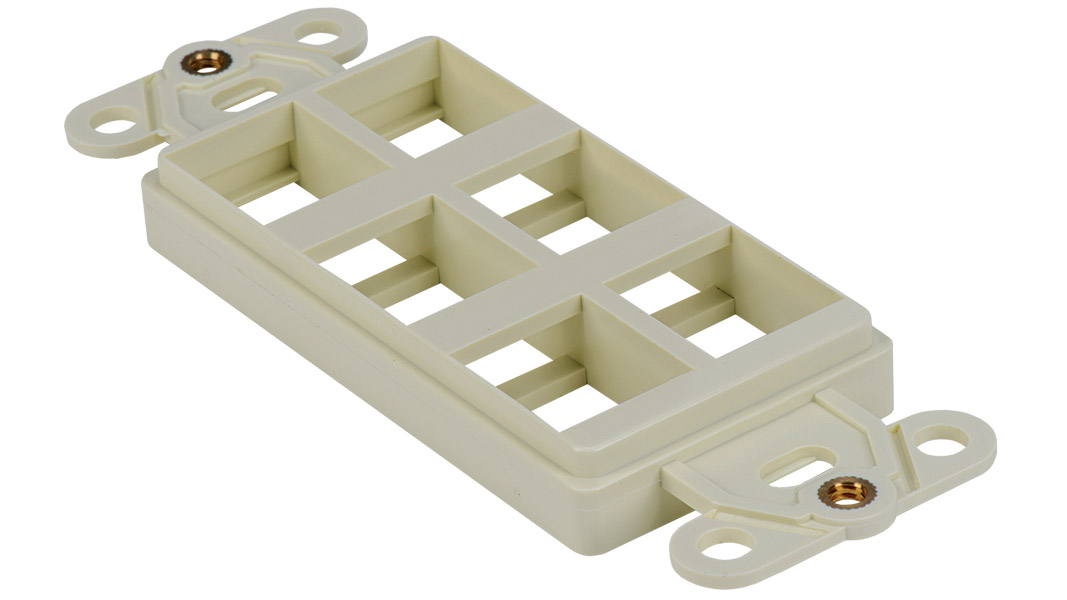 Keystone Decorator Style 6-port faceplate insert
