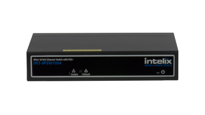 INT-IPSW1104 - Intelix 4 Port Network Switch with Uplink Port