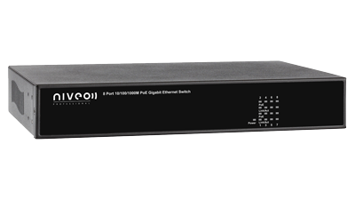 NGSE8H-AV - 8-port Gigabit high power PoE Rear Facing Switch