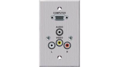 PC-EZ1000-S-T-C - Liberty EDULINX Interconnection System 2 Video 2 Audio faceplate